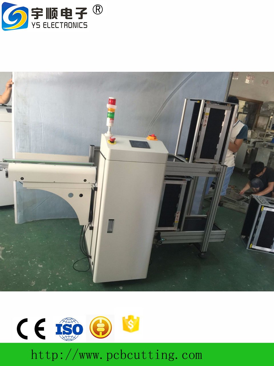 Automatic PCB unloader made in China/SMT line unloader equipment for SMT pick and place machine