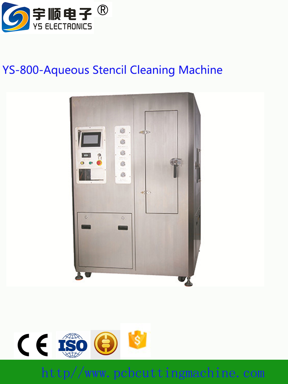 Aqueous Stencil Cleaning Machine SMT Full Pneumatic Automatic Stencil Cleaning Machine for SMT Stencil Cleaner